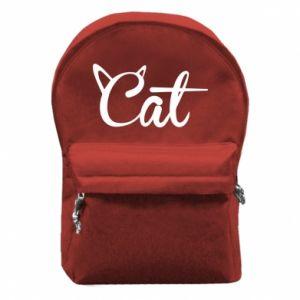 Plecak z przednią kieszenią Cat inscription with ears