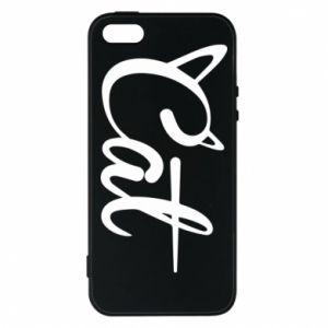 Etui na iPhone 5/5S/SE Cat inscription with ears