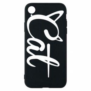 Etui na iPhone XR Cat inscription with ears