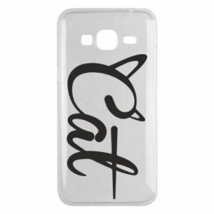 Etui na Samsung J3 2016 Cat inscription with ears