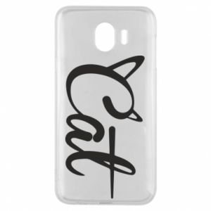 Etui na Samsung J4 Cat inscription with ears