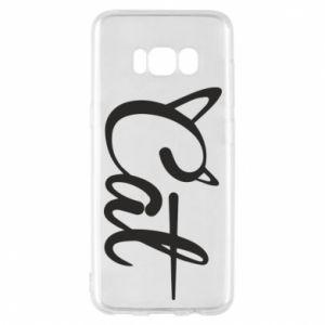 Etui na Samsung S8 Cat inscription with ears