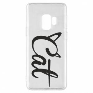 Etui na Samsung S9 Cat inscription with ears