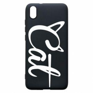 Etui na Xiaomi Redmi 7A Cat inscription with ears