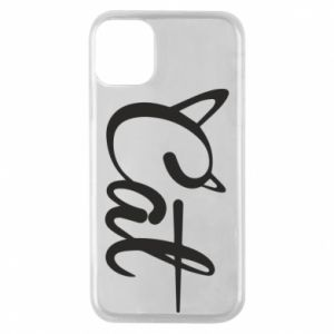 Etui na iPhone 11 Pro Cat inscription with ears