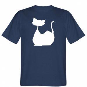 T-shirt Cat lies graphics