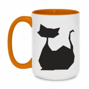 Kubek dwukolorowy 450ml Cat lies graphics