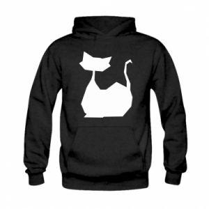 Bluza z kapturem dziecięca Cat lies graphics