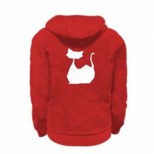 Bluza na zamek dziecięca Cat lies graphics