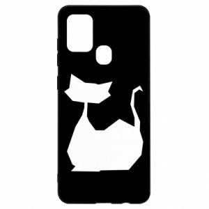 Etui na Samsung A21s Cat lies graphics