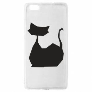 Etui na Huawei P 8 Lite Cat lies graphics
