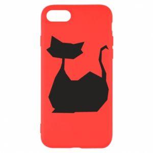Etui na iPhone SE 2020 Cat lies graphics