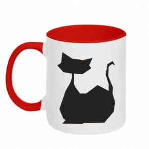 Kubek dwukolorowy Cat lies graphics