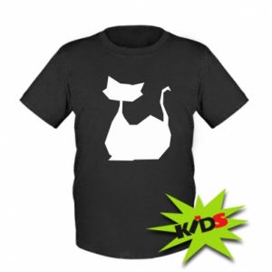 Kids T-shirt Cat lies graphics