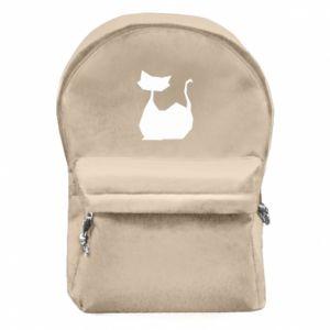 Plecak z przednią kieszenią Cat lies graphics