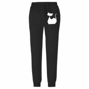 Spodnie lekkie męskie Cat lies graphics