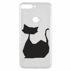 Etui na Huawei Y7 Prime 2018 Cat lies graphics