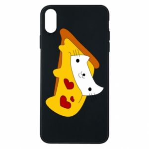Phone case for iPhone Xs Max Cat - Pizza