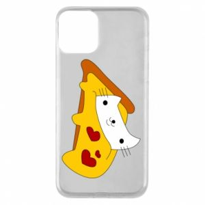 Phone case for iPhone 11 Cat - Pizza