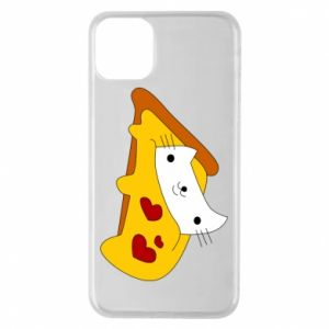 Phone case for iPhone 11 Pro Max Cat - Pizza
