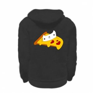 Bluza na zamek dziecięca Cat - Pizza