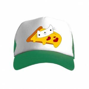 Czapka trucker dziecięca Cat - Pizza