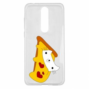 Etui na Nokia 5.1 Plus Cat - Pizza