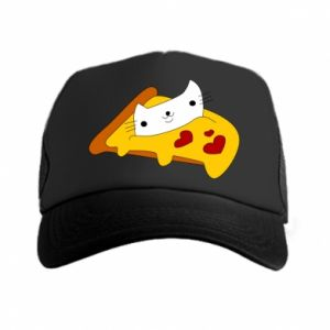 Trucker hat Cat - Pizza