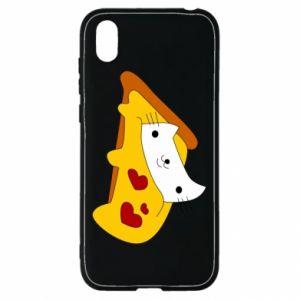 Etui na Huawei Y5 2019 Cat - Pizza