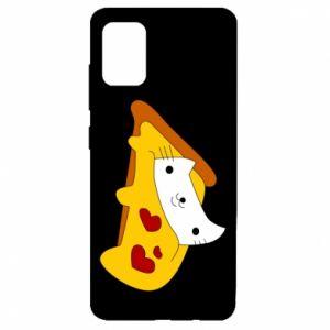 Etui na Samsung A51 Cat - Pizza
