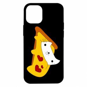 Etui na iPhone 12 Mini Cat - Pizza