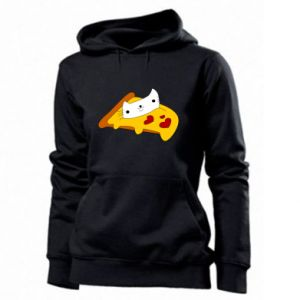 Women's hoodies Cat - Pizza