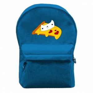 Backpack with front pocket Cat - Pizza