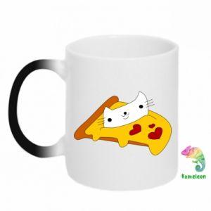 Kubek-kameleon Cat - Pizza