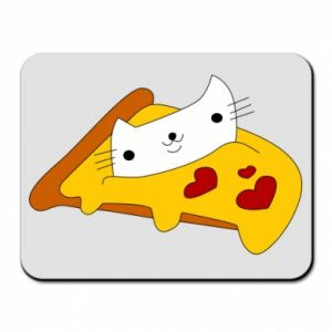 Mouse pad Cat - Pizza