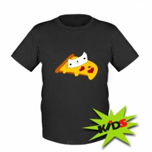 Kids T-shirt Cat - Pizza