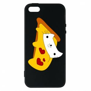 Phone case for iPhone 5/5S/SE Cat - Pizza