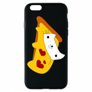 Phone case for iPhone 6/6S Cat - Pizza