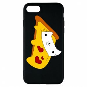 Phone case for iPhone 8 Cat - Pizza