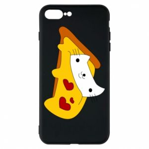 Phone case for iPhone 8 Plus Cat - Pizza