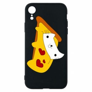 Phone case for iPhone XR Cat - Pizza