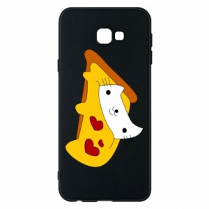 Phone case for Samsung J4 Plus 2018 Cat - Pizza