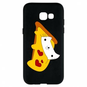 Phone case for Samsung A5 2017 Cat - Pizza