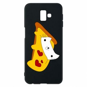 Phone case for Samsung J6 Plus 2018 Cat - Pizza