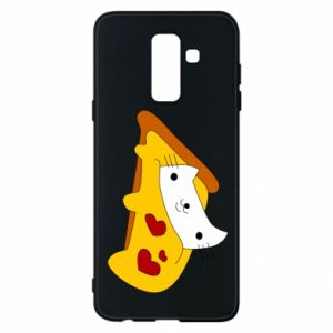 Phone case for Samsung A6+ 2018 Cat - Pizza