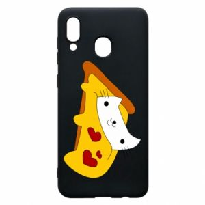 Phone case for Samsung A20 Cat - Pizza