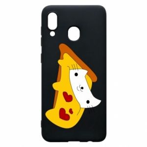 Phone case for Samsung A30 Cat - Pizza