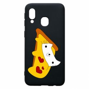 Phone case for Samsung A40 Cat - Pizza