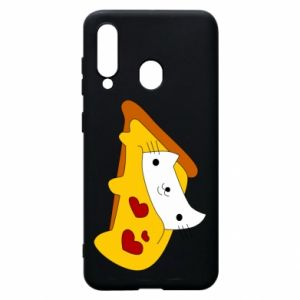 Phone case for Samsung A60 Cat - Pizza