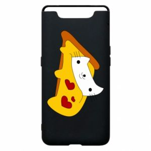 Phone case for Samsung A80 Cat - Pizza
